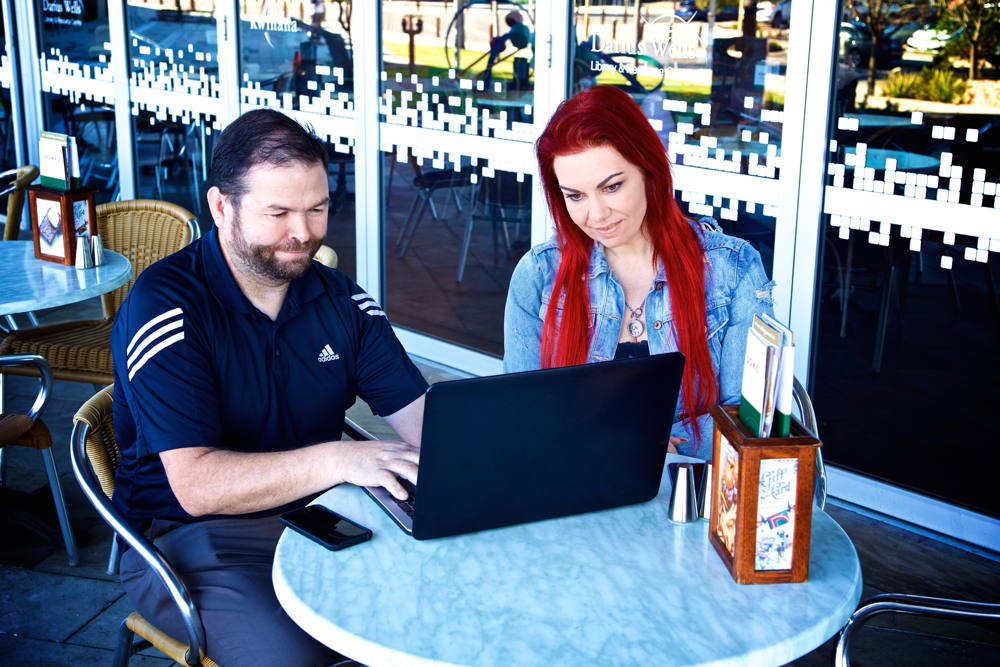 David KCR IT Solutions helping a Customer